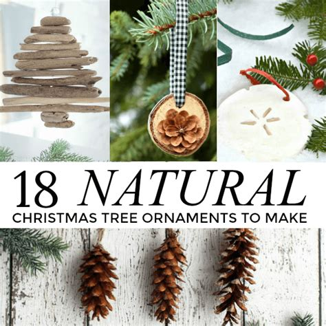 beautiful natural christmas tree ornaments