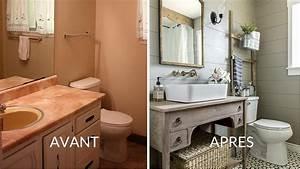 Salle De Bain Avant Après : avant apr s la salle de bains prend des allures n o ~ Mglfilm.com Idées de Décoration