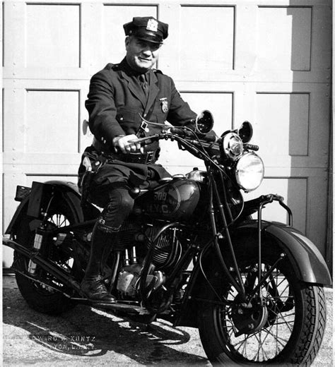 Vintage New York City Motorcycle Police Officer