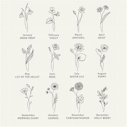 Birth Month Tattoo Svg Flower Flowers Clipart