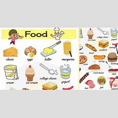 Food Names Useful Food Vocabulary In English  7 E S L
