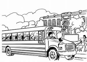 Free Printable School Bus Coloring Pages - Coloring Home