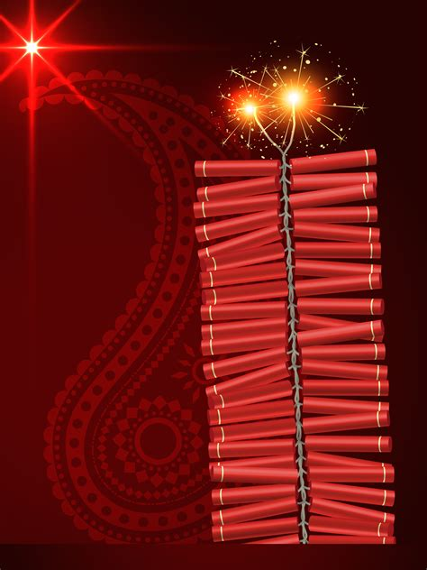 diwali festival crackers   vectors clipart