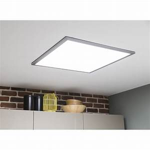 panneau led led 1 x 36 w led integree leroy merlin With carrelage adhesif salle de bain avec plafonnier led rectangulaire