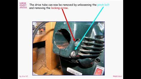 bolens bl gas powered string trimmer repair youtube