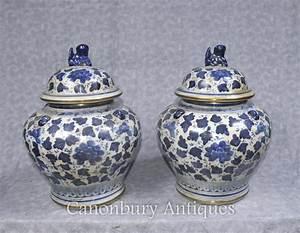 Chinesisches Porzellan Kaufen : paar blaue und wei e chinesische porzellan deckel urnen ~ Michelbontemps.com Haus und Dekorationen