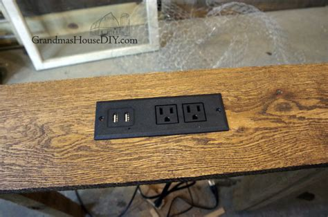 diy sofa table with outlet console table charging station for behind our sofa diy