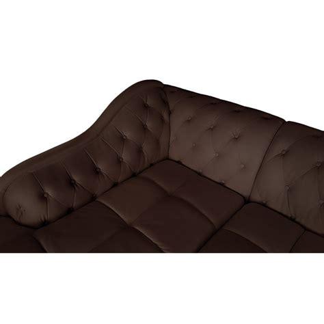 canap d angle commandeur canapé d 39 angle gauche 5 places marron cuir simili pas cher