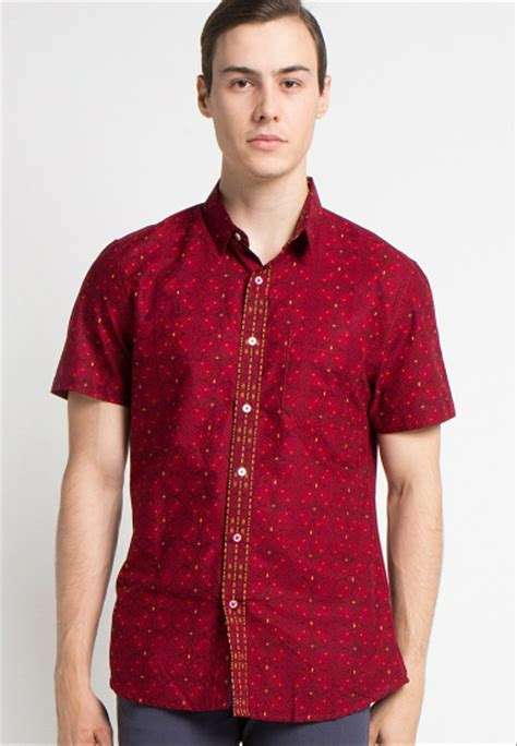 jual baju kemeja batik pria modern branded arthesian romeesa original exclusive handmade di