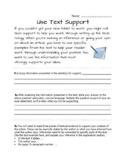 25+ Best Ideas About Citing Textual Evidence On Pinterest  Evidence Anchor Chart, Ela Anchor