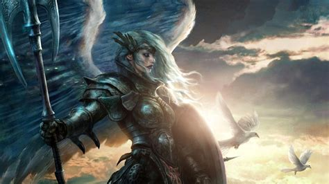 full hd wallpaper warrior armor valkyrie wings desktop