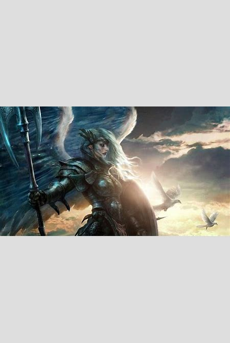 Download 1920x1080 HD Wallpaper warrior armor valkyrie wings, Desktop Backgrounds HD