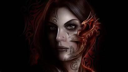 Dragon Tattoo Wallpapers Gothic Face Dark Tattoos