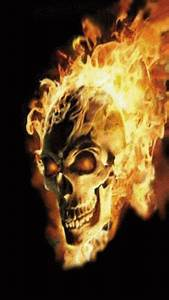 Skull Flame GIF - Skull Flame - Discover & Share GIFs