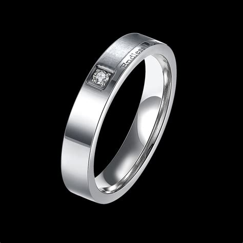 silver stainless steel endless lover ring