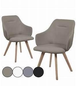 Chaise Scandinave Accoudoir : chaise avec accoudoirs style scandinave set de 2 ~ Teatrodelosmanantiales.com Idées de Décoration
