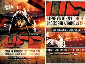 ufc style fight night flyer template flyerheroes With ufc poster template