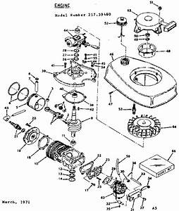 Craftsman Sears 4 5 Hp Outboard Motor Parts
