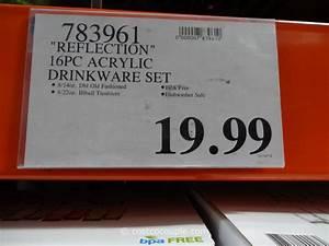 Reflection 16 Piece Acrylic Tumbler Set