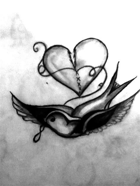 Bird fixing a broken heart