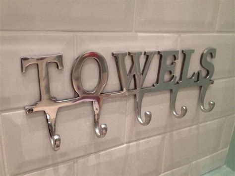 large towel holder rack bath hanger hooks wall mounted bathroom aluminium chrome