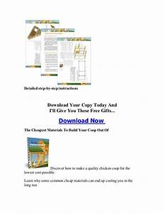 Chicken House Dimensions Manual And Guides