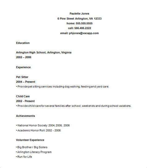 sample high school resume templates