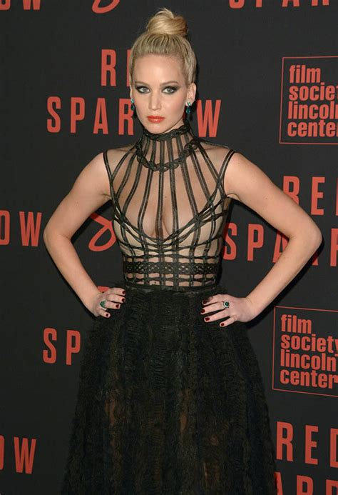 jennifer lawrence red sparrow nudity tease wardrobe
