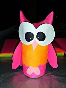 Bricolage Facile En Papier : bricolage pour enfants hiboux en rouleaux de papier vides ~ Mglfilm.com Idées de Décoration