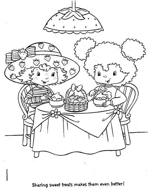 Kleurplaat Een Paar Meiden Starbery Schortcake by N 22 Kleurplaten Strawberry Shortcake