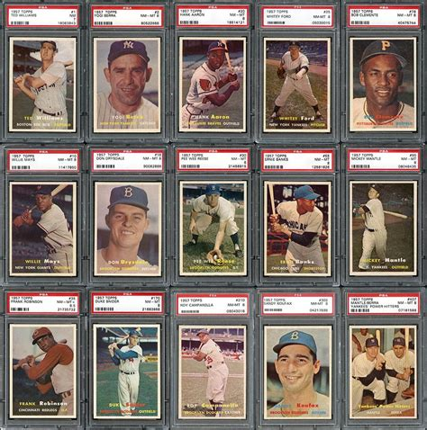 Prices for cards up to $9999. Lot Detail - 1957 Topps Baseball High Grade Near Complete Set (406/407)