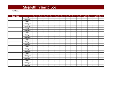weight training log book best photos of training log template employee training