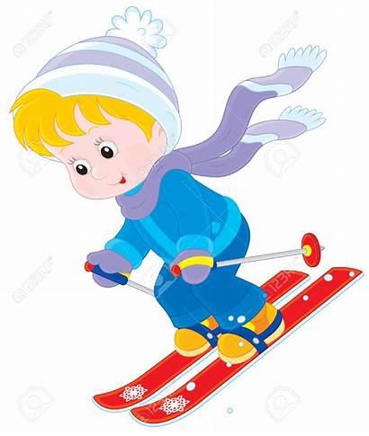 Skiing Ski Child Clipart Skier Down Mountain