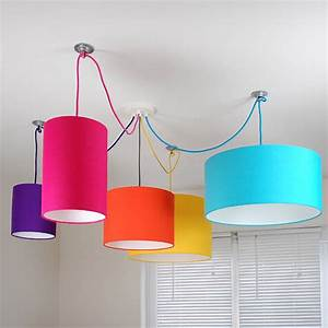 Plain bright coloured lampshade colours by quirk