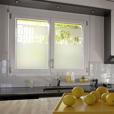 stickers pour fenetre cuisine sticker occultant pour vitre et fenêtre bon appé