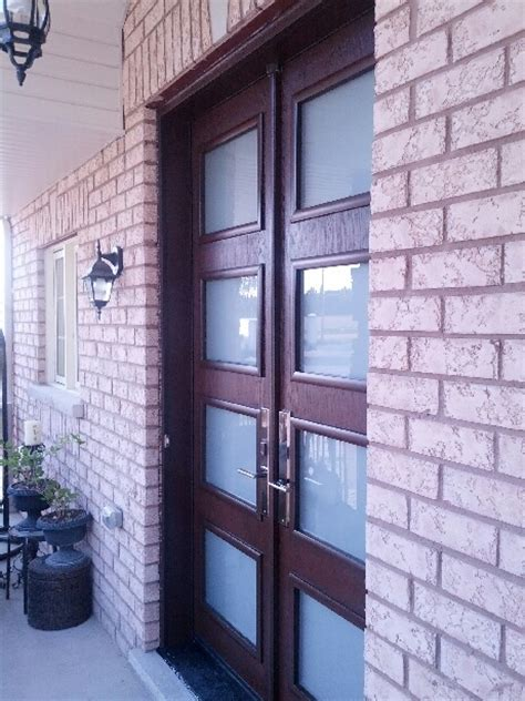 fiberglass doors custom modern double front entry doors installed  newmarket  windows