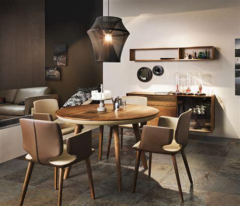 wood  leather dining table wharfside luxury
