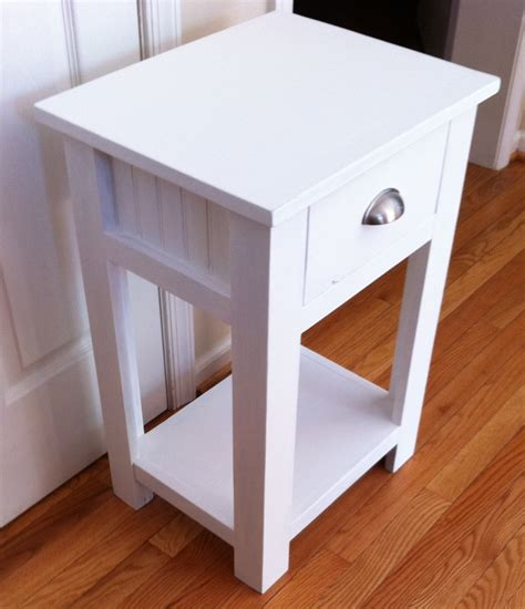 White Simple Nightstand by White Simple White Nightstand Diy Projects
