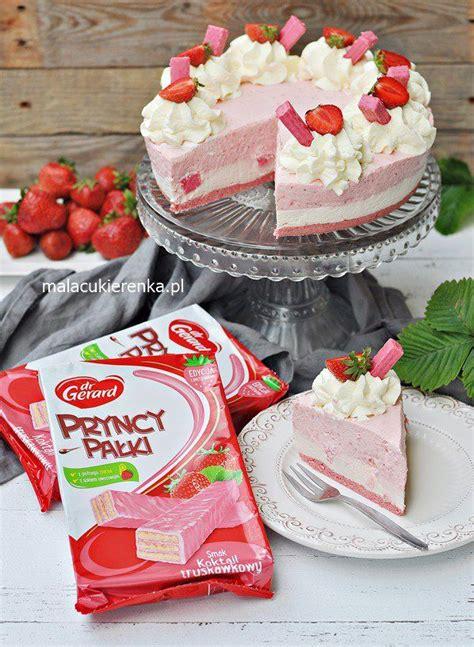 ciasto bez pieczenia koktajl truskawkowy cake desserts