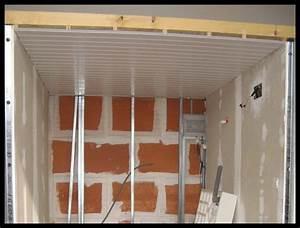 plafond en lambris pvc champ professionnel habitat With lambris pvc plafond cuisine