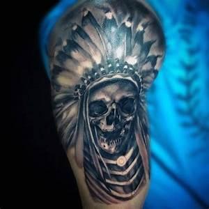 80 India tatuaje Diseños del cráneo para los hombres Ideas frescas de tinta Tatuaje Club
