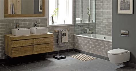 Bathroom styling ideas: green, grey and wood with white