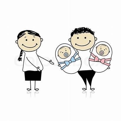 Parents Twins Newborn Happy