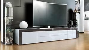 Tv Schrank Weiß : tv lowboard board schrank tisch m bel la paz in wei hochglanz naturt ne ebay ~ Frokenaadalensverden.com Haus und Dekorationen