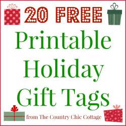 20 printable holiday gift tags for free the country chic cottage