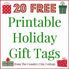 20 Printable Holiday Gift Tags (for Free!!)  The Country Chic Cottage