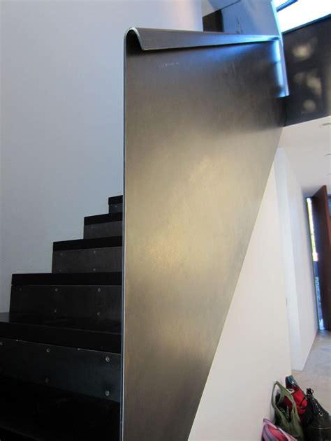 bent steel plate railing stair pinterest