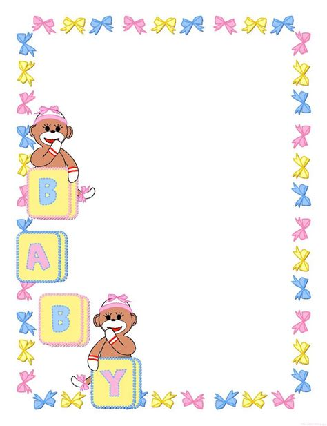 baby clipart girl template pages  born baby shower