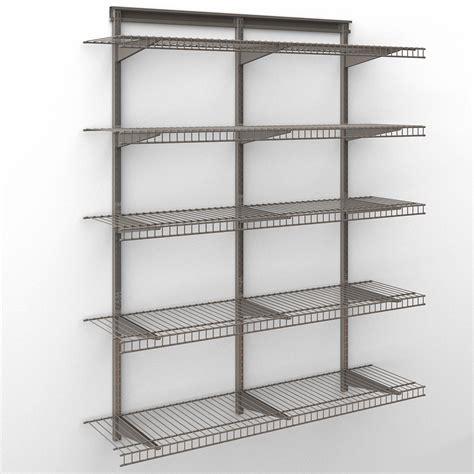 Wire Closet Shelving Closetmaid by Closetmaid Shelftrack 4 Ft Wire Shelf Kit Shop Your Way