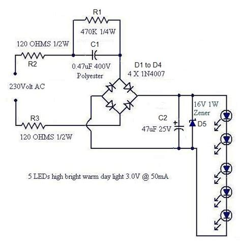 Simple Led Lamp Circuit From Scrap Uses Takes